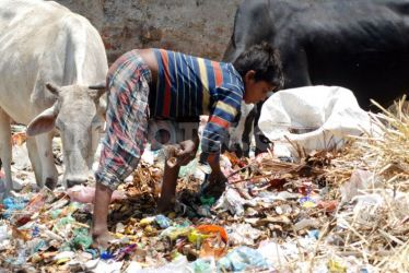 1367225806-indian-child-picking-plastic-bottles-from-a-garbage-disposal_2004972