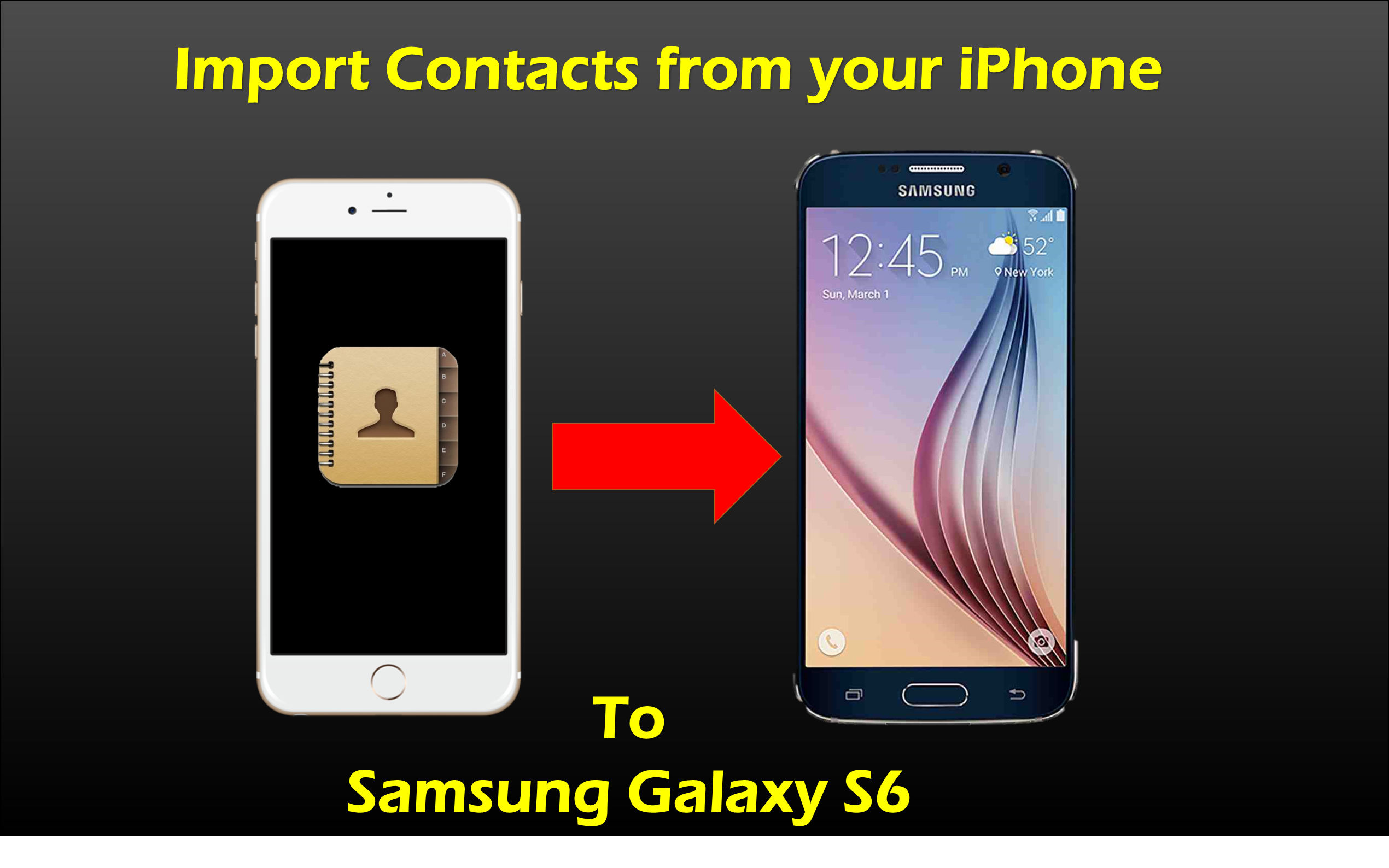 samsung galaxy s6 export contacts