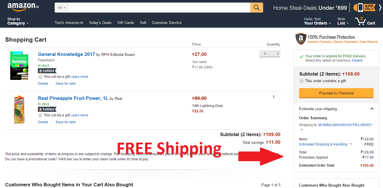 dd4577e65 Free Delivery Trick on Purchase from Amazon.in – TechGrade